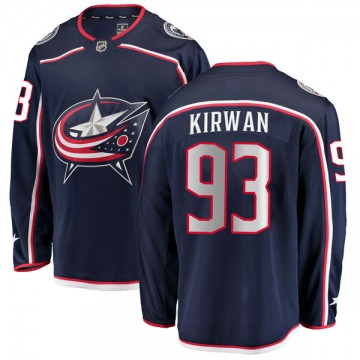 Breakaway Fanatics Branded Youth Luke Kirwan Columbus Blue Jackets Home Jersey - Navy